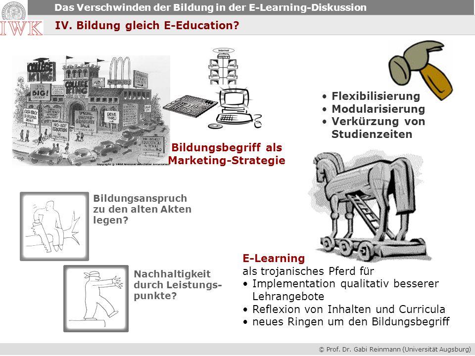 Bildungsbegriff als Marketing-Strategie