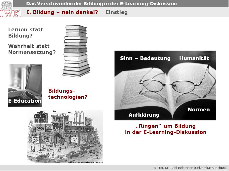 in der E-Learning-Diskussion