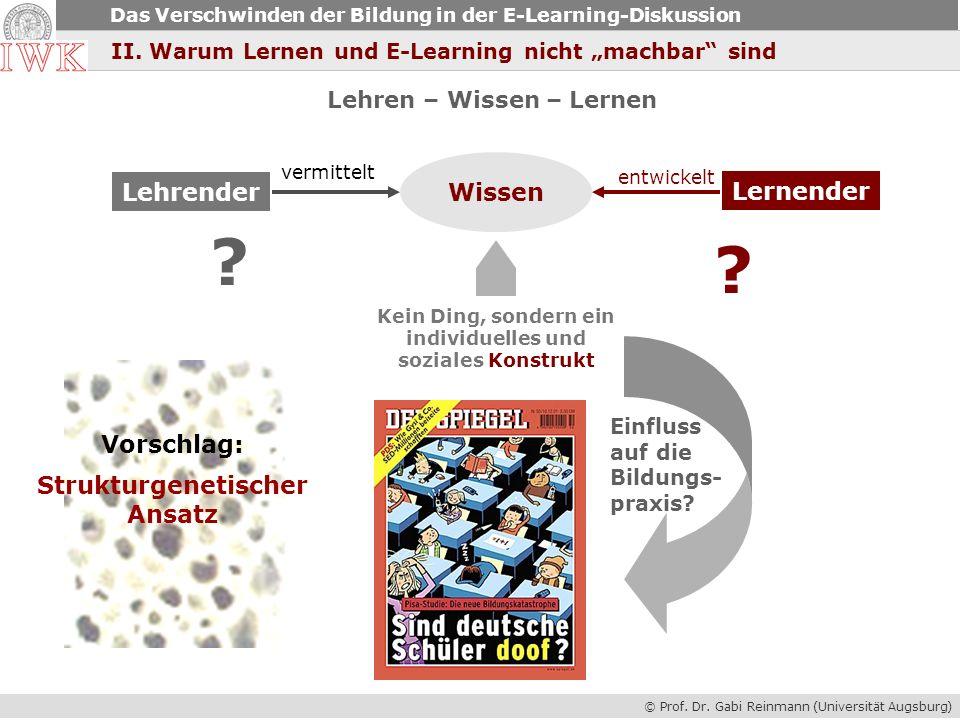 Lernender Lehrender Wissen Vorschlag: Strukturgenetischer Ansatz