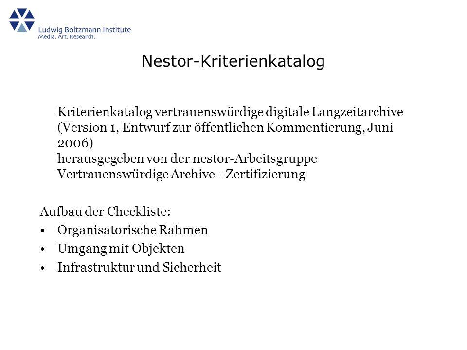 Nestor-Kriterienkatalog