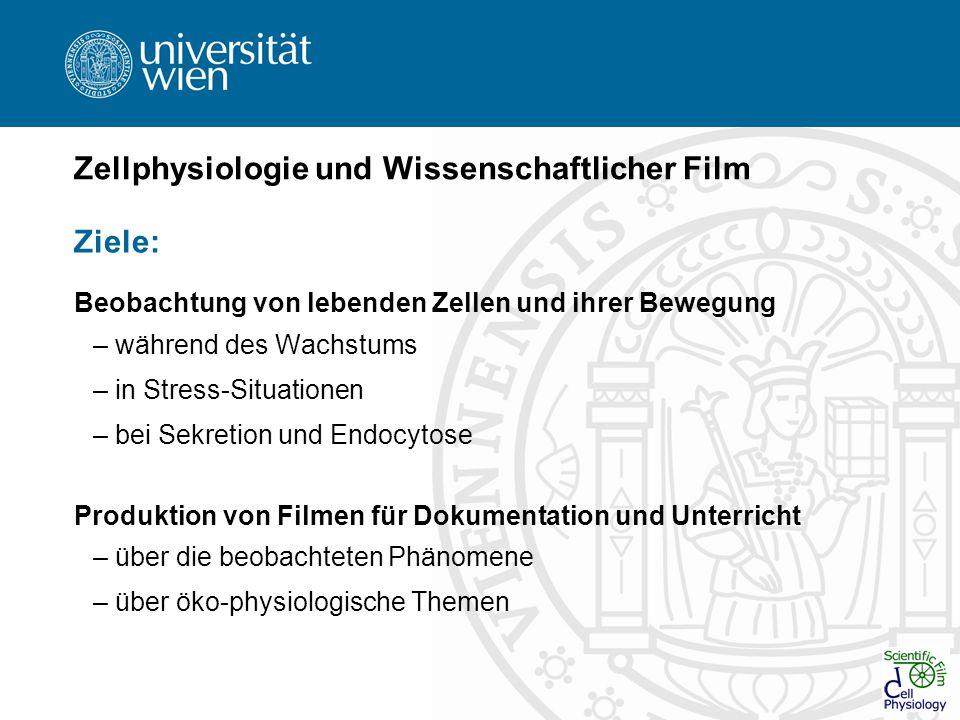 Zellphysiologie und Wissenschaftlicher Film