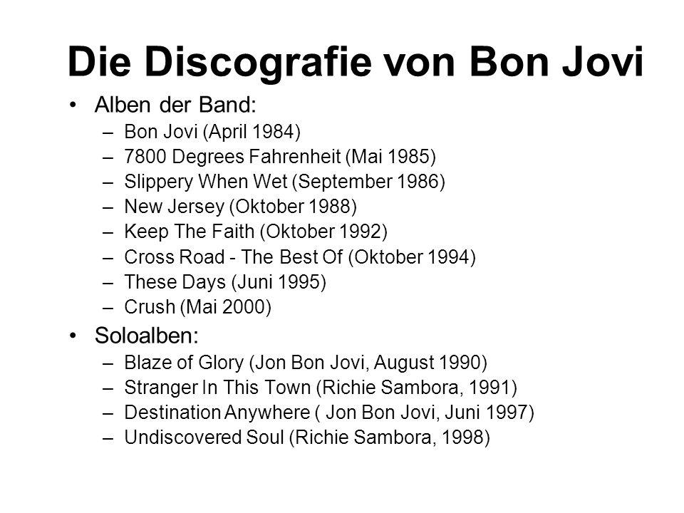 Die Discografie von Bon Jovi