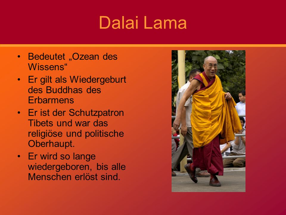 """Dalai Lama Bedeutet """"Ozean des Wissens"""