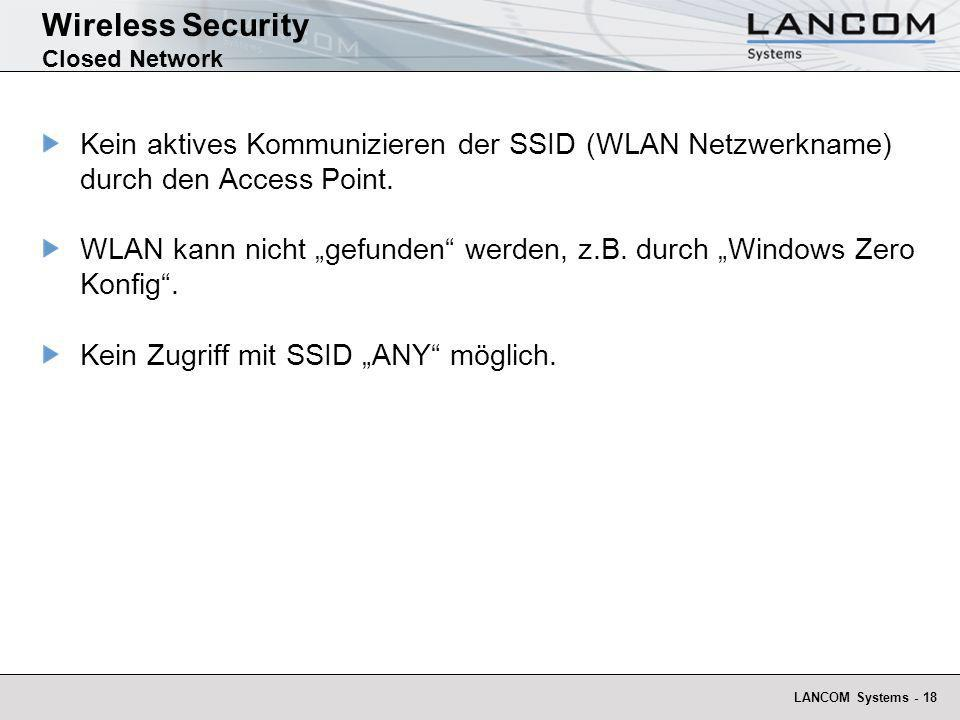 Wireless Security Closed Network