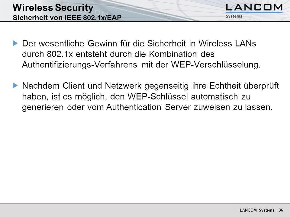 Wireless Security Sicherheit von IEEE 802.1x/EAP