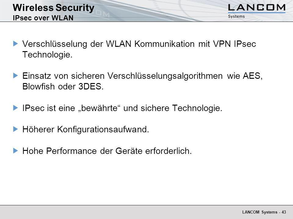Wireless Security IPsec over WLAN