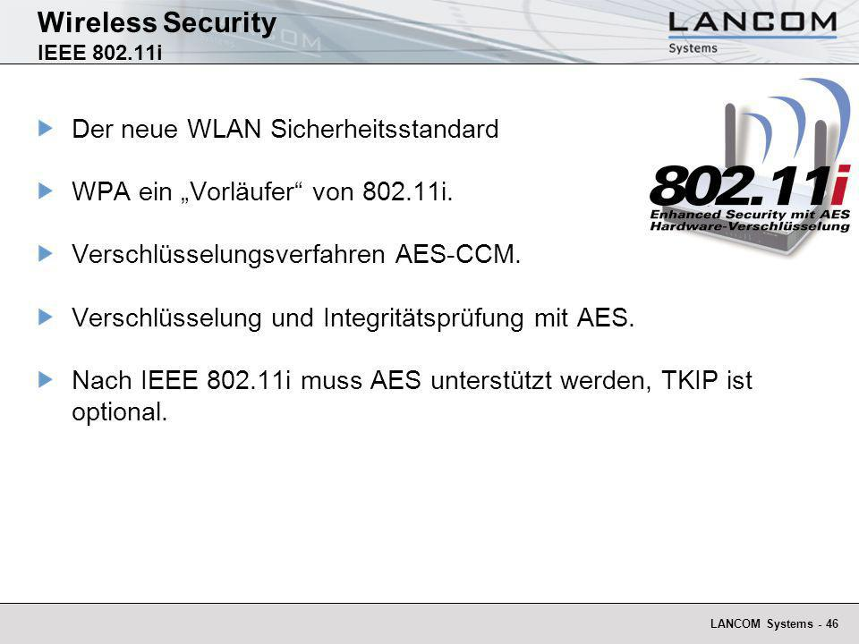 Wireless Security IEEE 802.11i