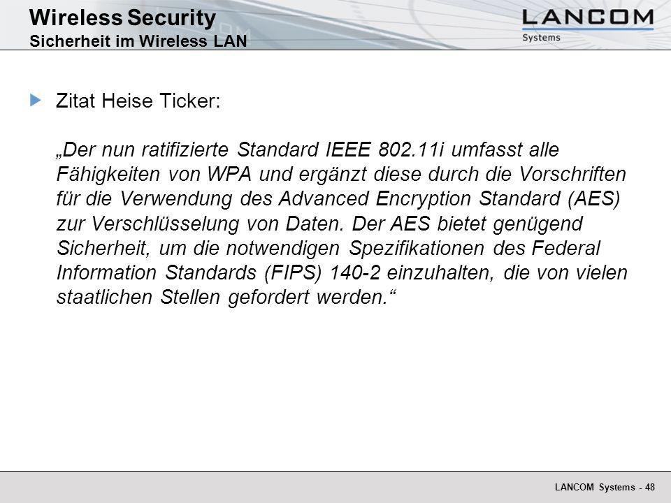 Wireless Security Sicherheit im Wireless LAN