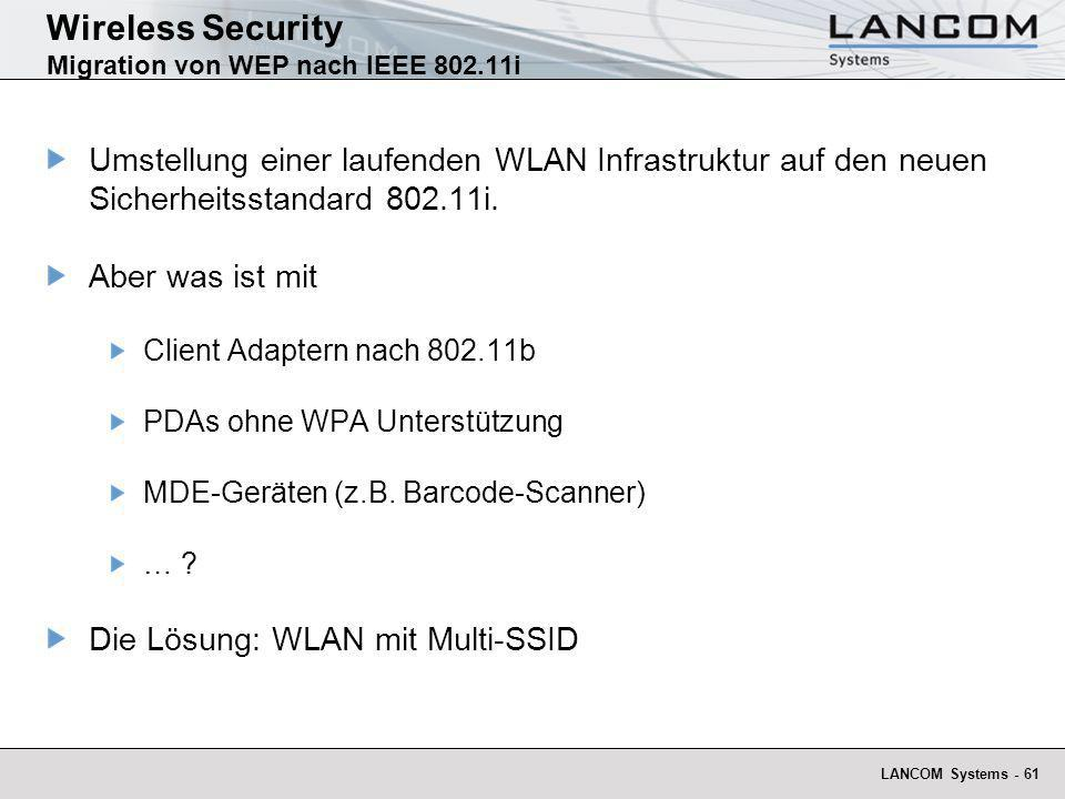 Wireless Security Migration von WEP nach IEEE 802.11i