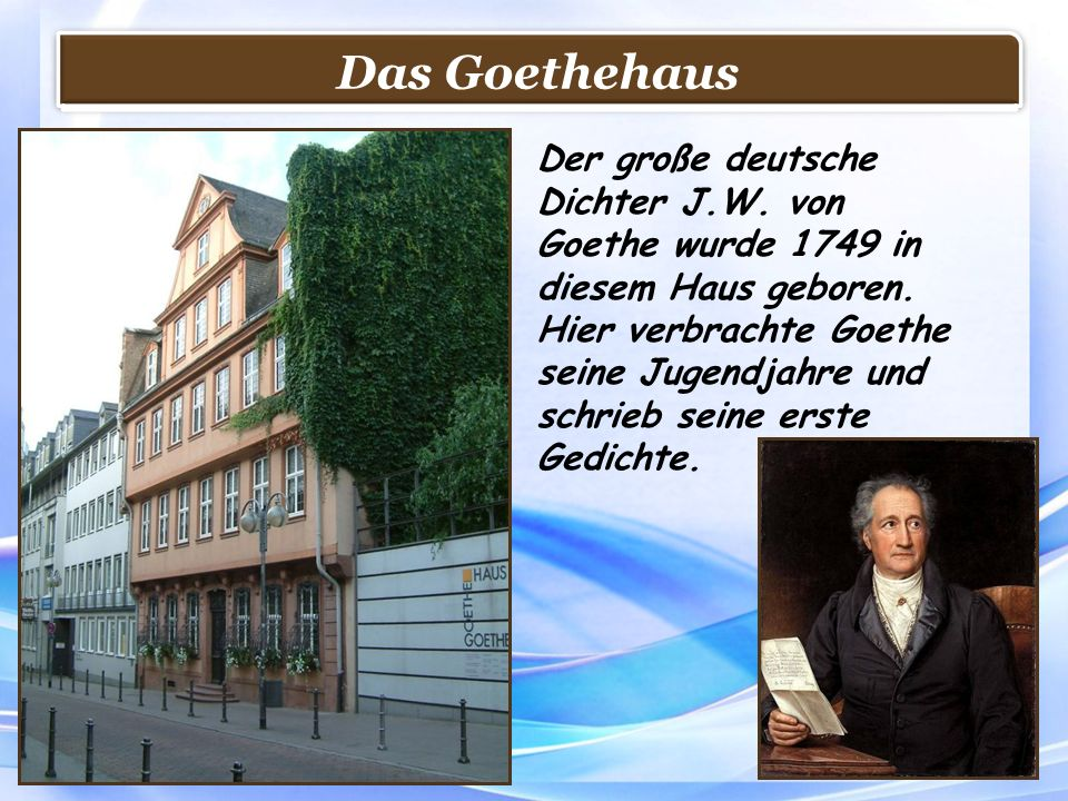 Das Goethehaus