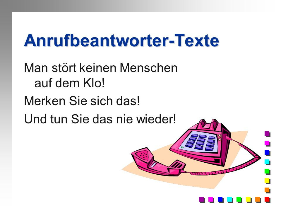 Anrufbeantworter-Texte