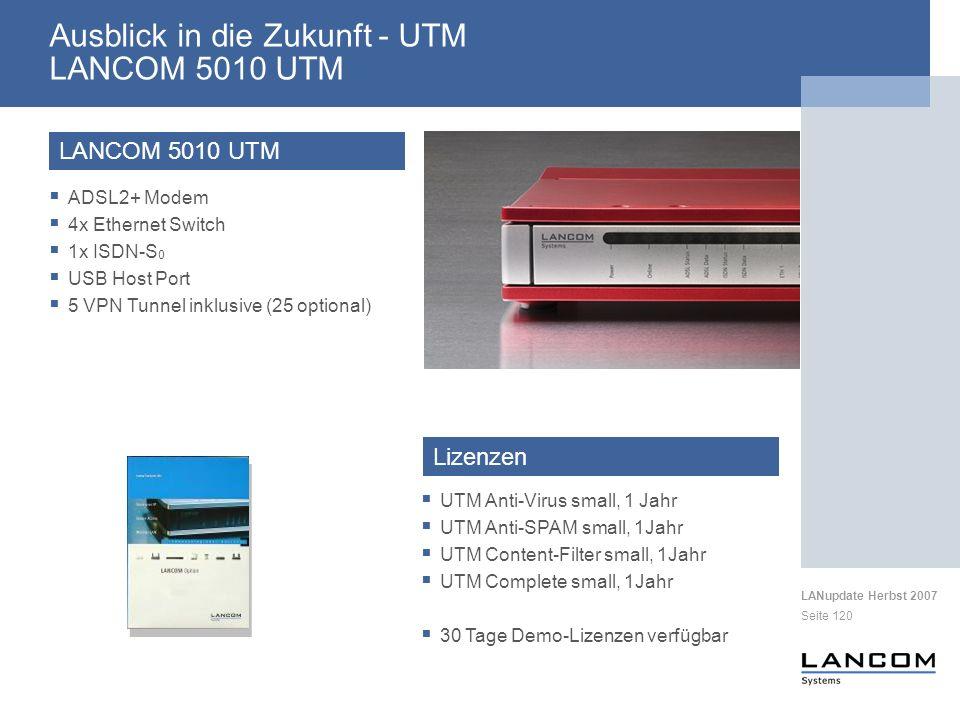 Ausblick in die Zukunft - UTM LANCOM 5010 UTM