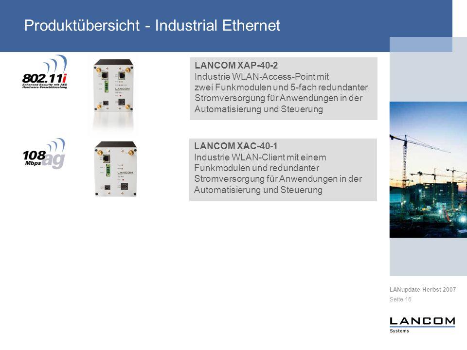 Produktübersicht - Industrial Ethernet
