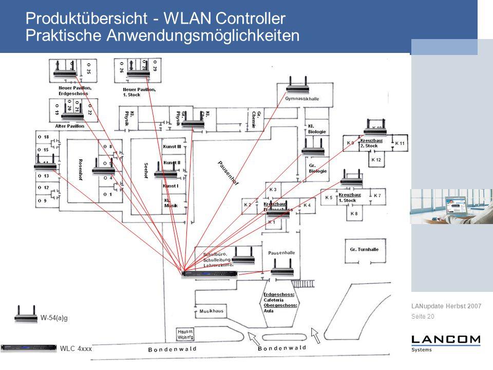 Produktübersicht - WLAN Controller Praktische Anwendungsmöglichkeiten