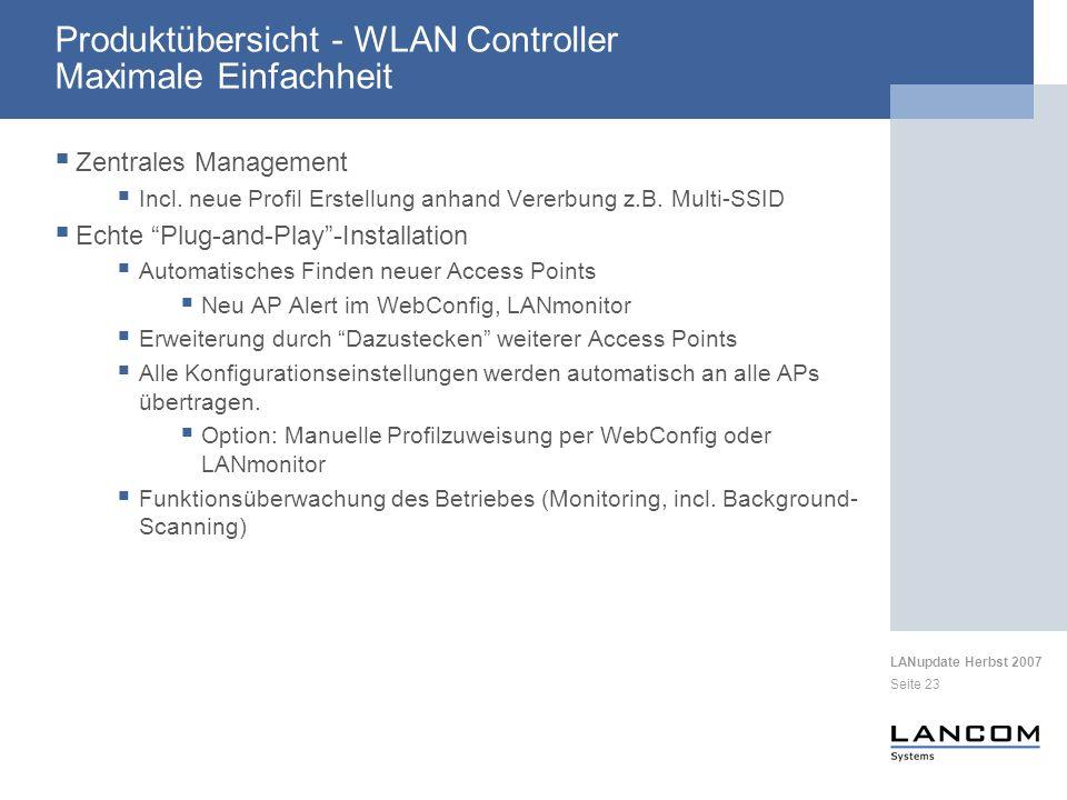 Produktübersicht - WLAN Controller Maximale Einfachheit