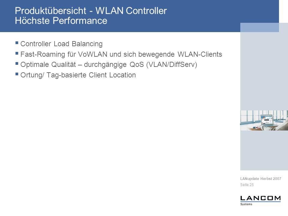 Produktübersicht - WLAN Controller Höchste Performance