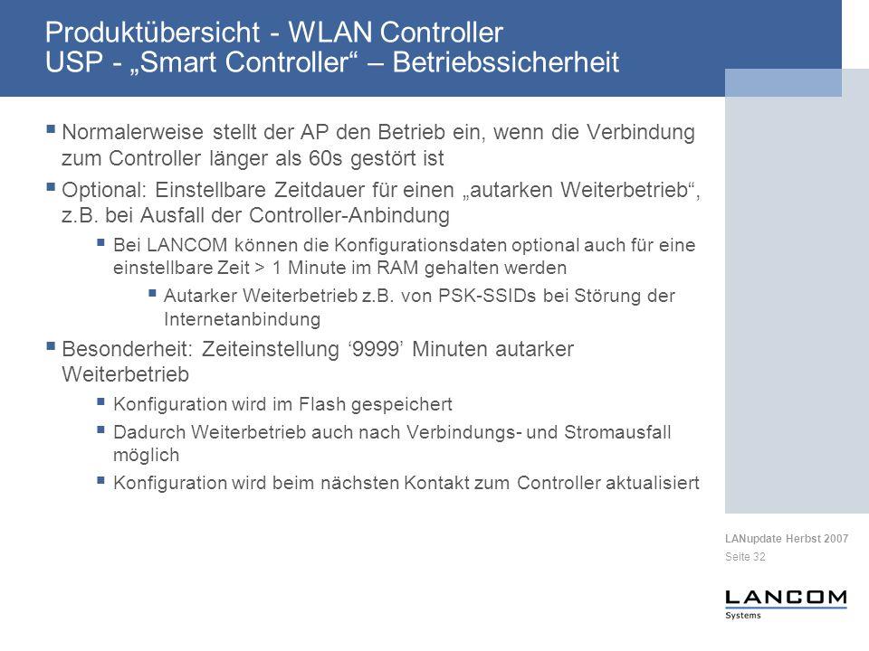 """Produktübersicht - WLAN Controller USP - """"Smart Controller – Betriebssicherheit"""