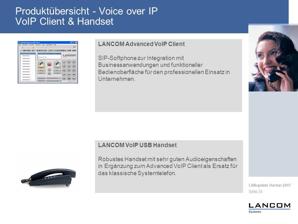 Produktübersicht - Voice over IP VoIP Client & Handset