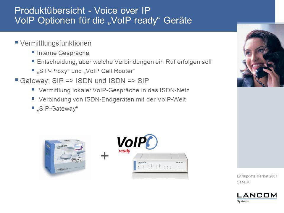 """Produktübersicht - Voice over IP VoIP Optionen für die """"VoIP ready Geräte"""