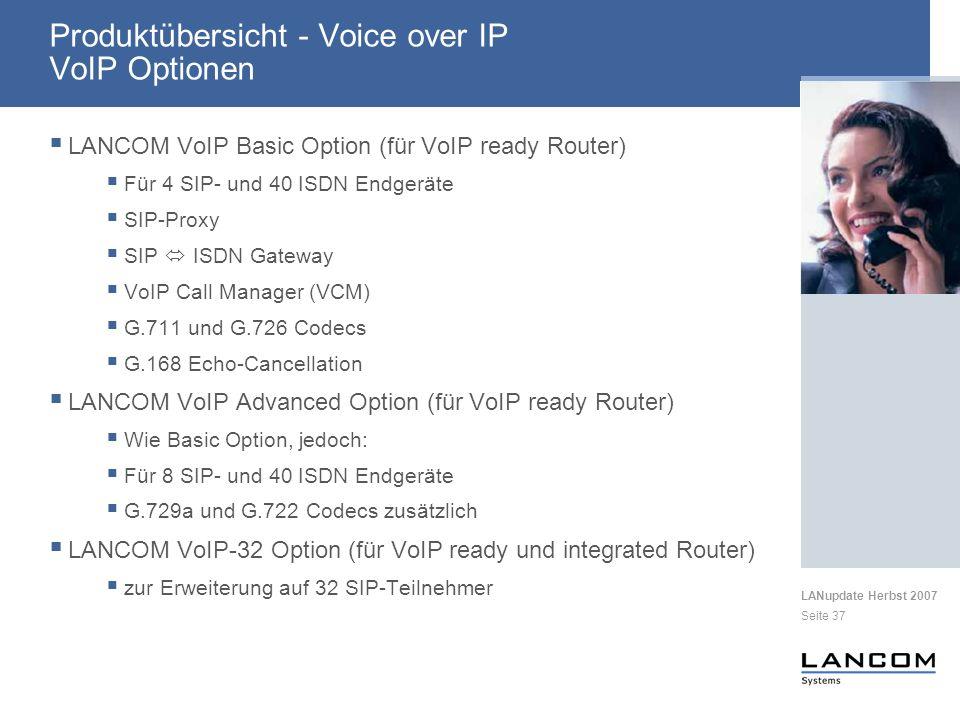 Produktübersicht - Voice over IP VoIP Optionen