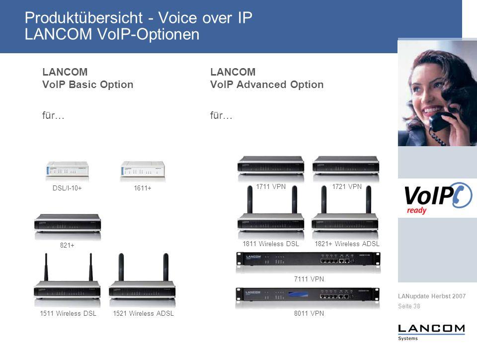 Produktübersicht - Voice over IP LANCOM VoIP-Optionen