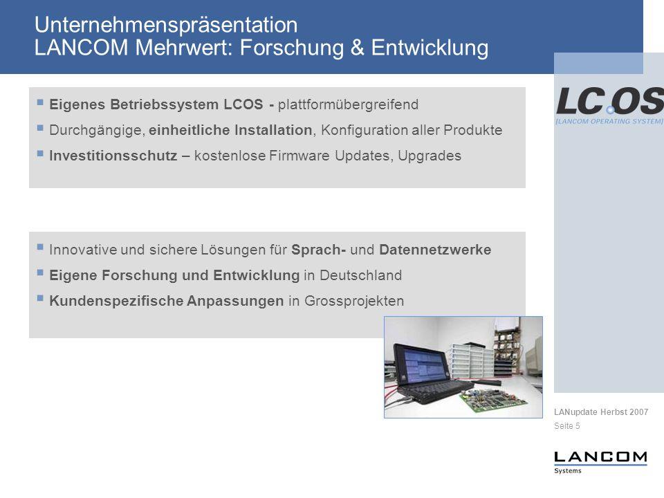 Unternehmenspräsentation LANCOM Mehrwert: Forschung & Entwicklung