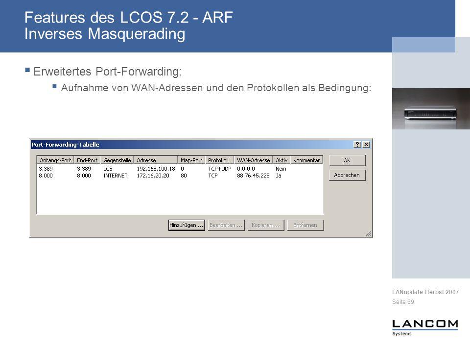 Features des LCOS 7.2 - ARF Inverses Masquerading