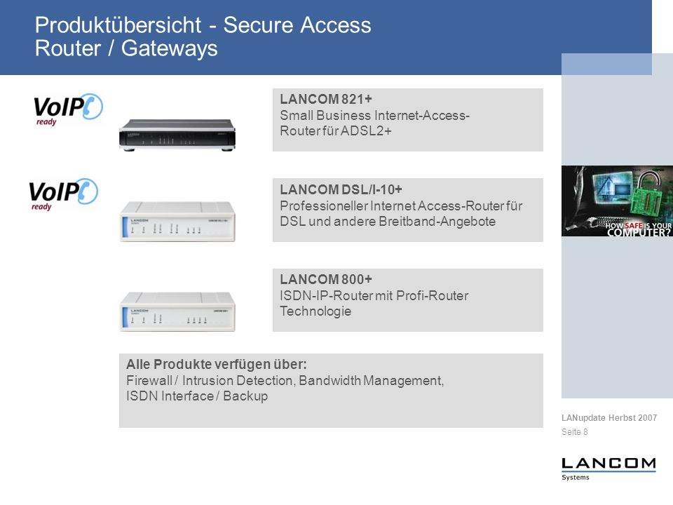 Produktübersicht - Secure Access Router / Gateways