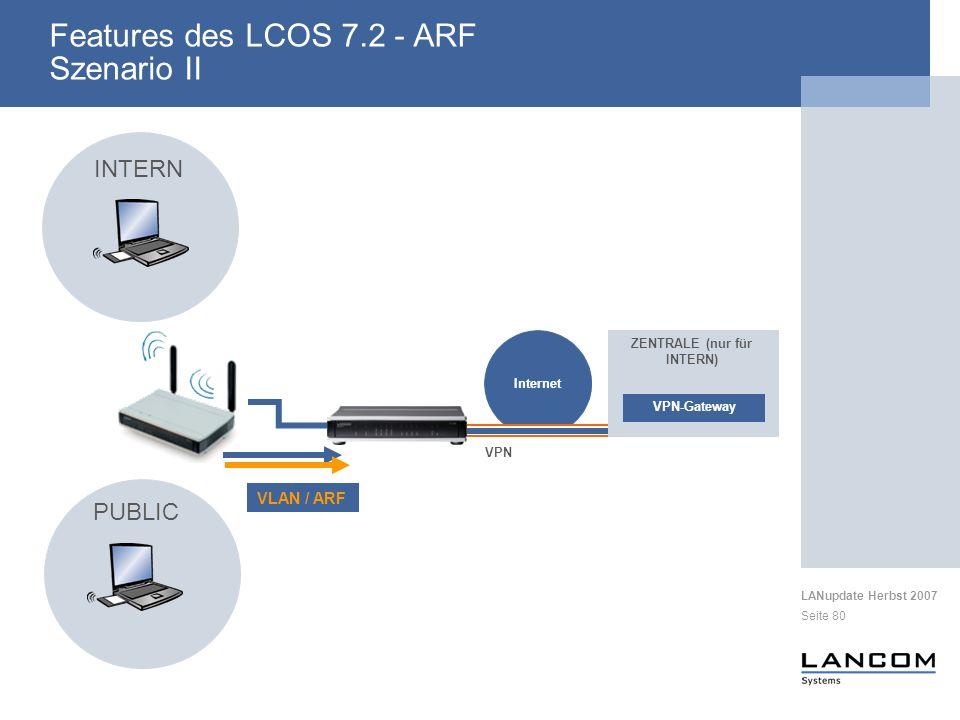 Features des LCOS 7.2 - ARF Szenario II