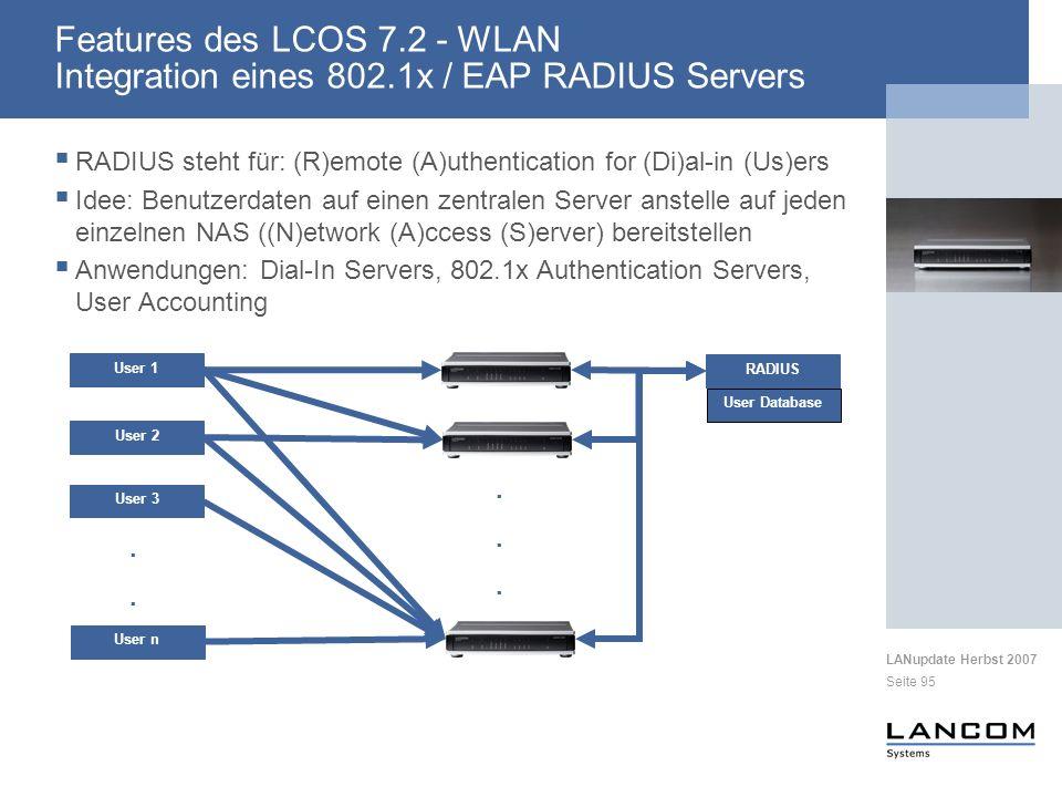 Features des LCOS 7. 2 - WLAN Integration eines 802