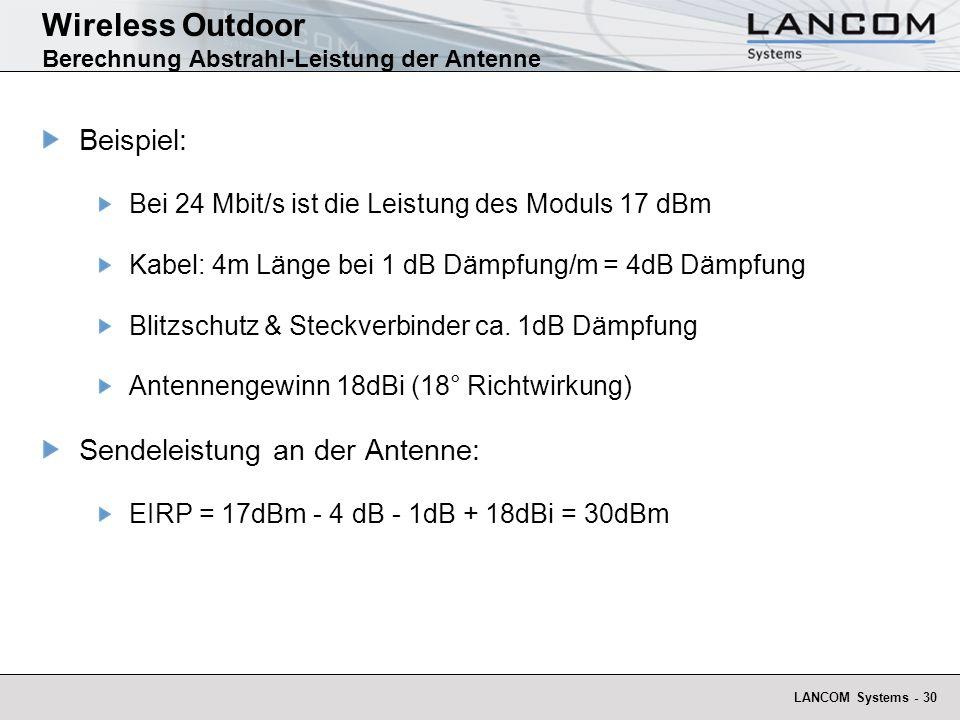 Wireless Outdoor Berechnung Abstrahl-Leistung der Antenne