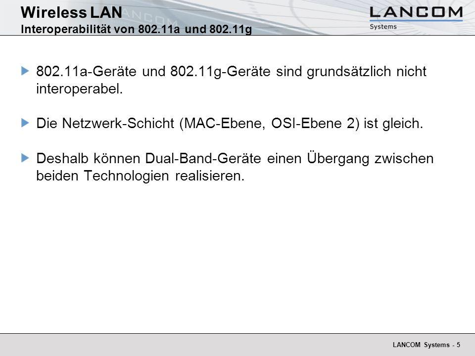 Wireless LAN Interoperabilität von 802.11a und 802.11g