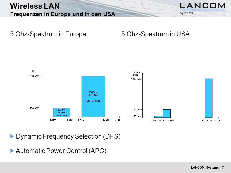 Wireless LAN Frequenzen in Europa und in den USA
