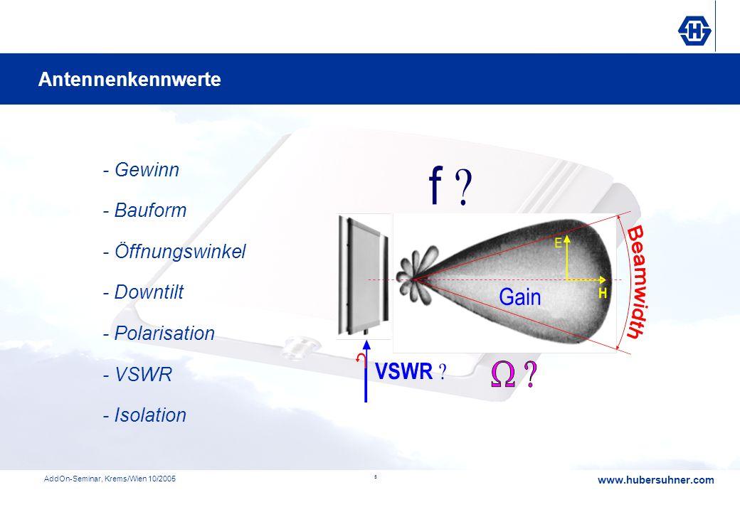 Antennenkennwerte - Gewinn - Bauform - Öffnungswinkel - Downtilt