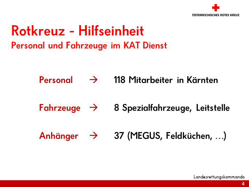 Rotkreuz - Hilfseinheit Personal und Fahrzeuge im KAT Dienst