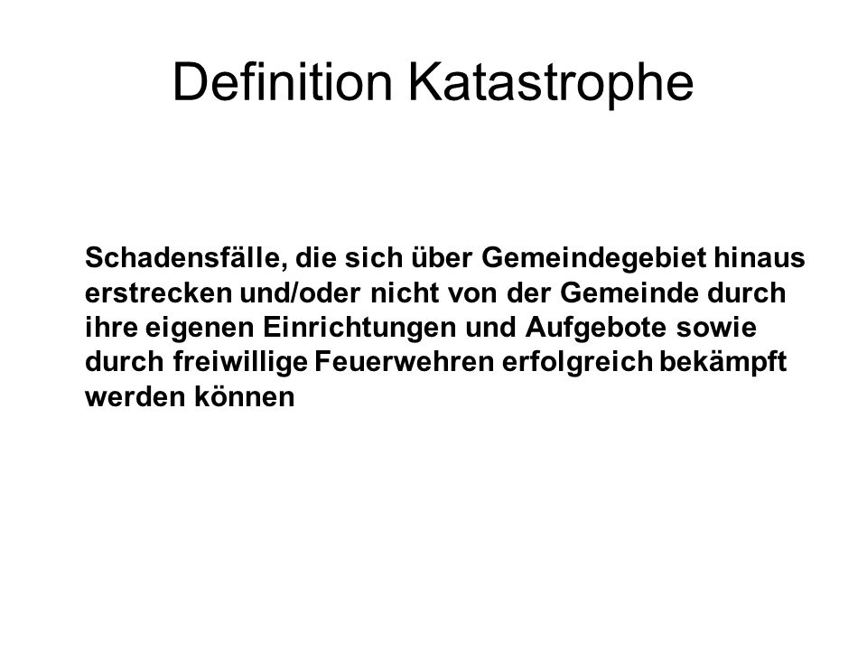 Definition Katastrophe