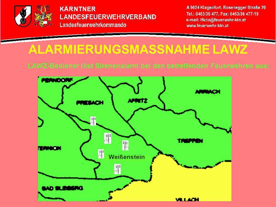 ALARMIERUNGSMASSNAHME LAWZ