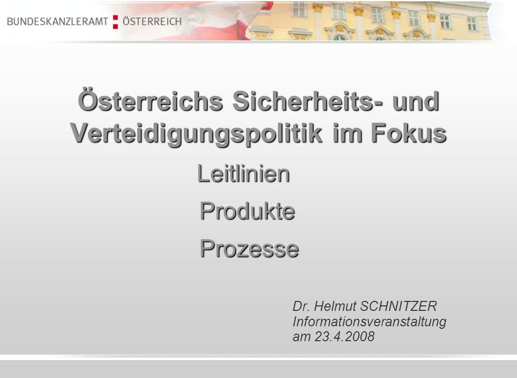 Österreichs Sicherheits- und Verteidigungspolitik im Fokus