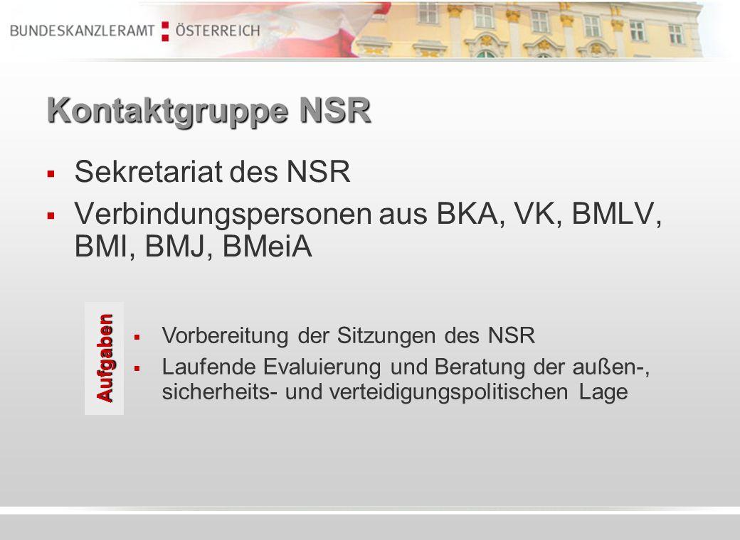 Kontaktgruppe NSR Sekretariat des NSR