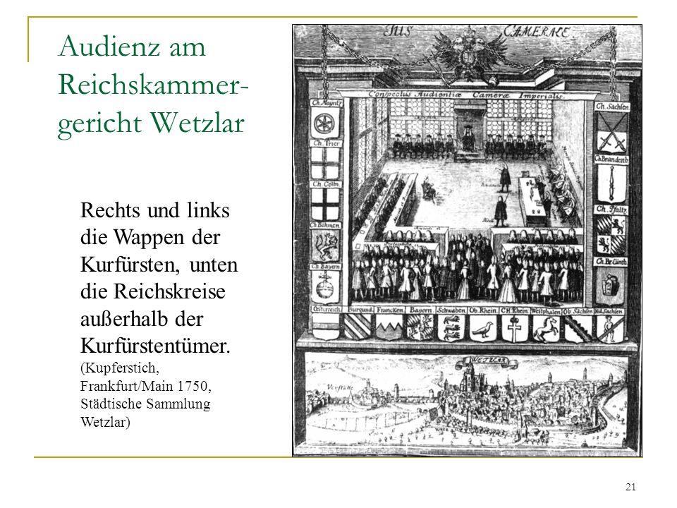 Audienz am Reichskammer-gericht Wetzlar
