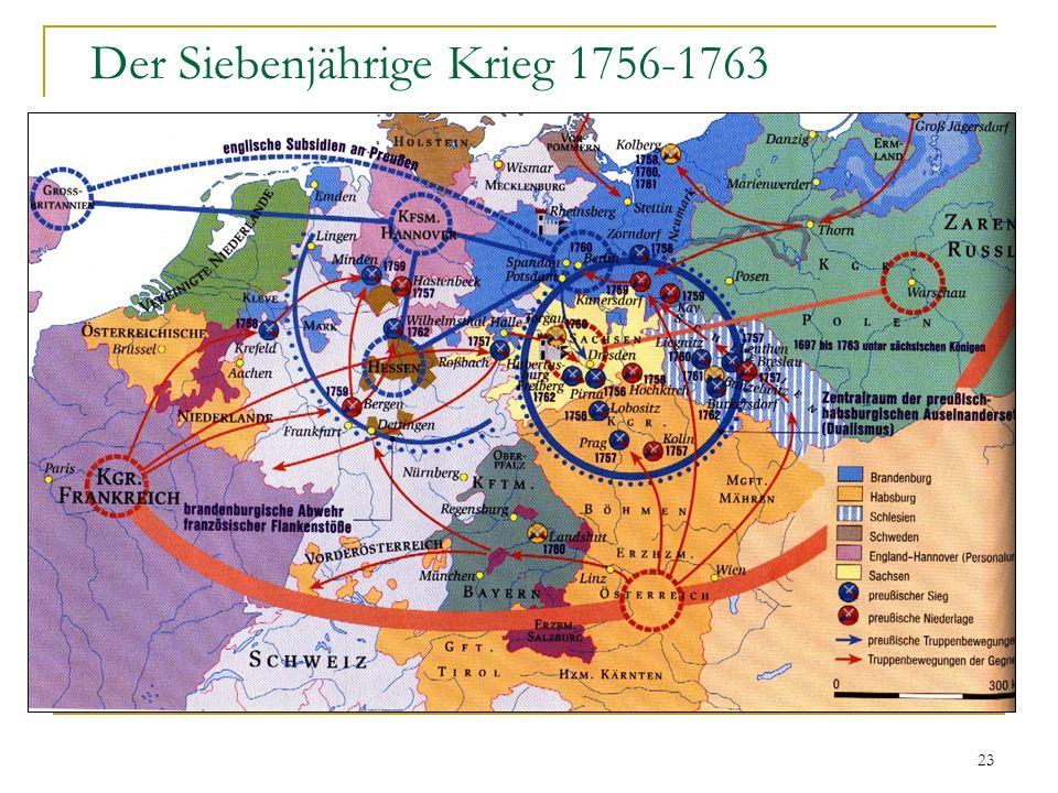 Der Siebenjährige Krieg 1756-1763