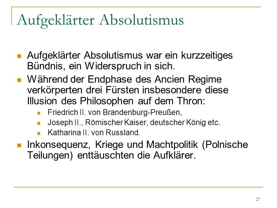 Aufgeklärter Absolutismus