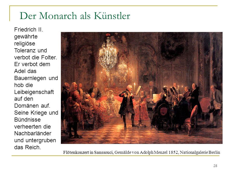 Der Monarch als Künstler