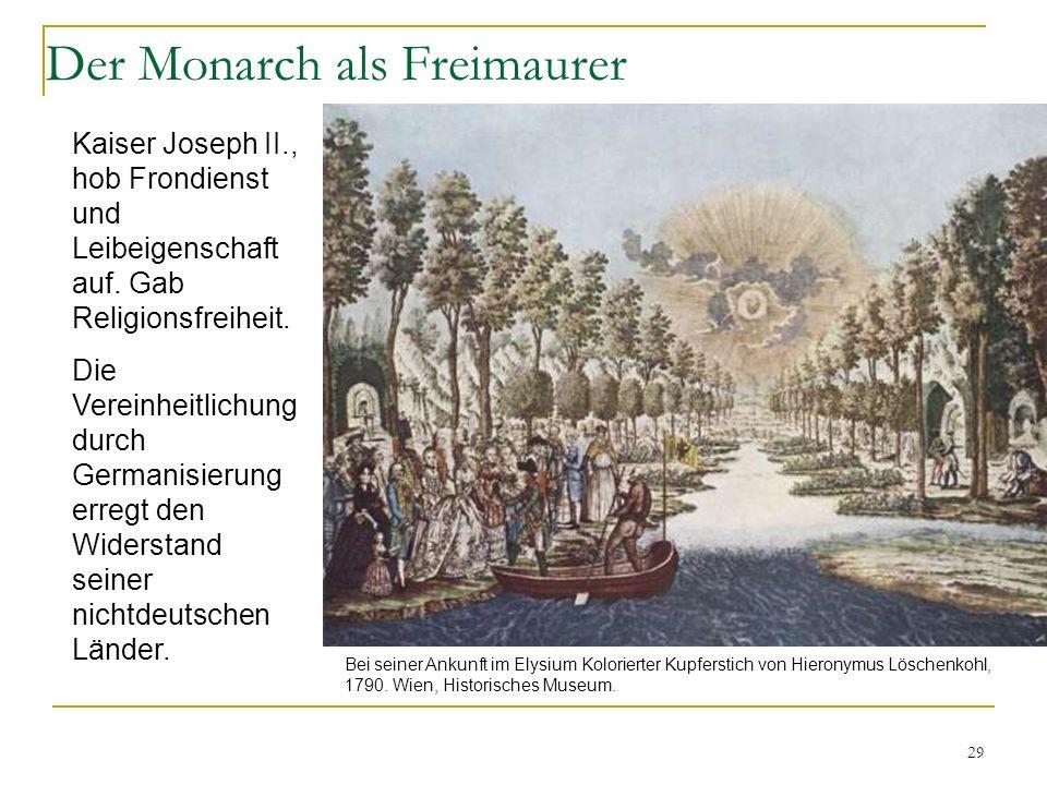 Der Monarch als Freimaurer