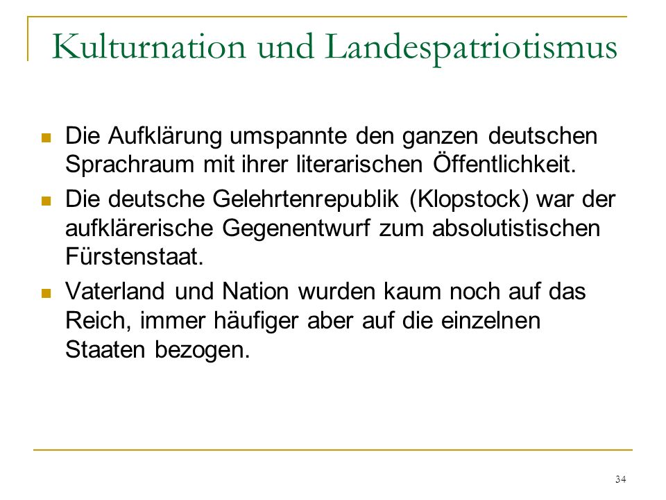 Kulturnation und Landespatriotismus