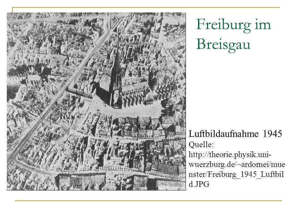 Freiburg im Breisgau Luftbildaufnahme 1945