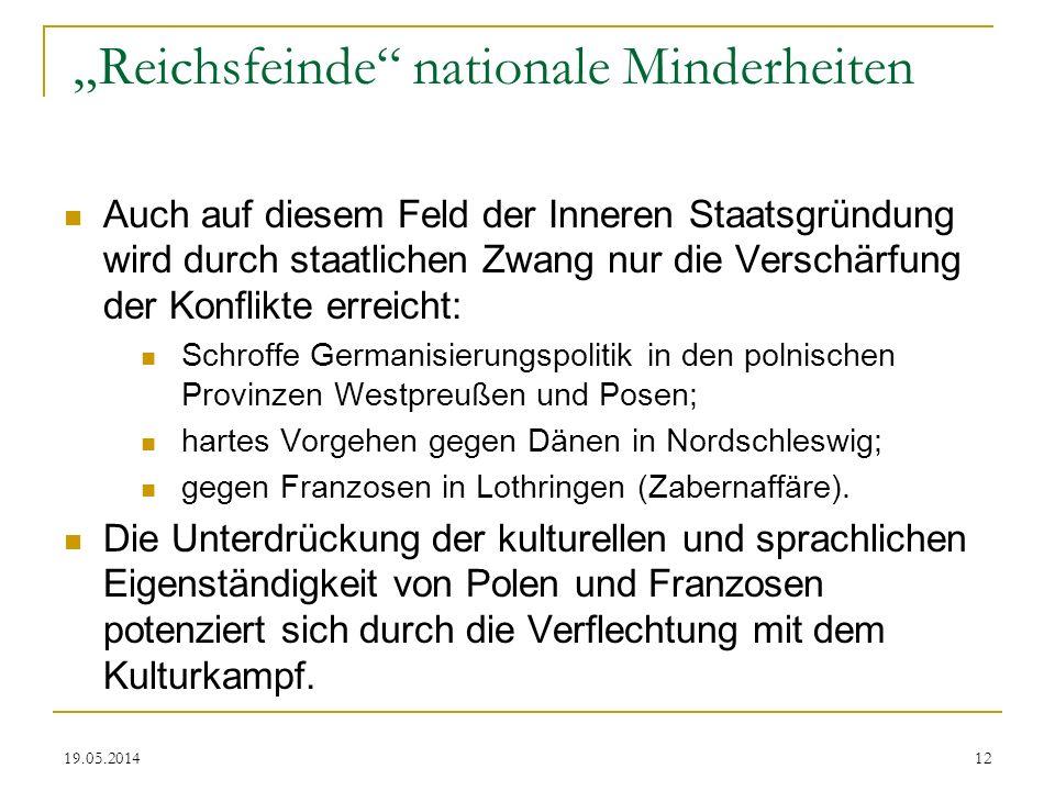 """""""Reichsfeinde nationale Minderheiten"""