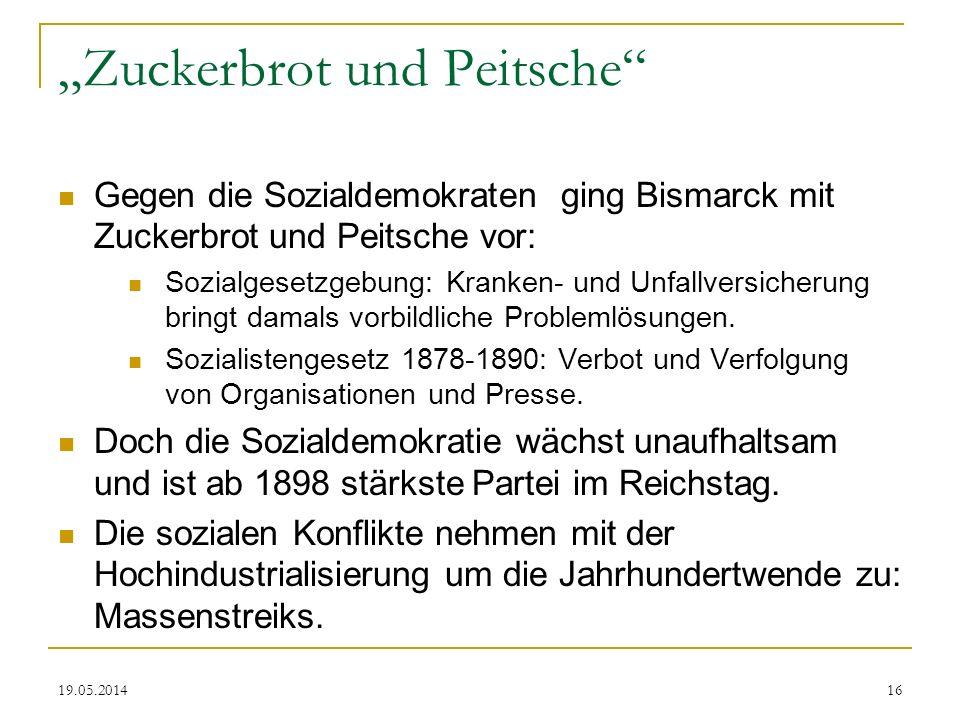 """""""Zuckerbrot und Peitsche"""