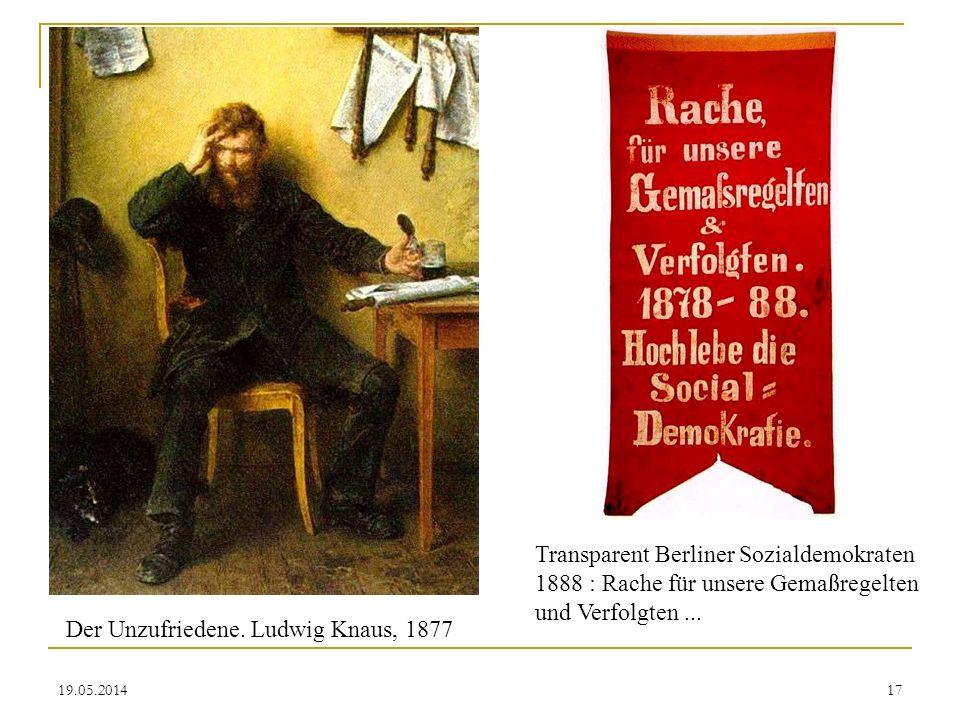 Der Unzufriedene. Ludwig Knaus, 1877