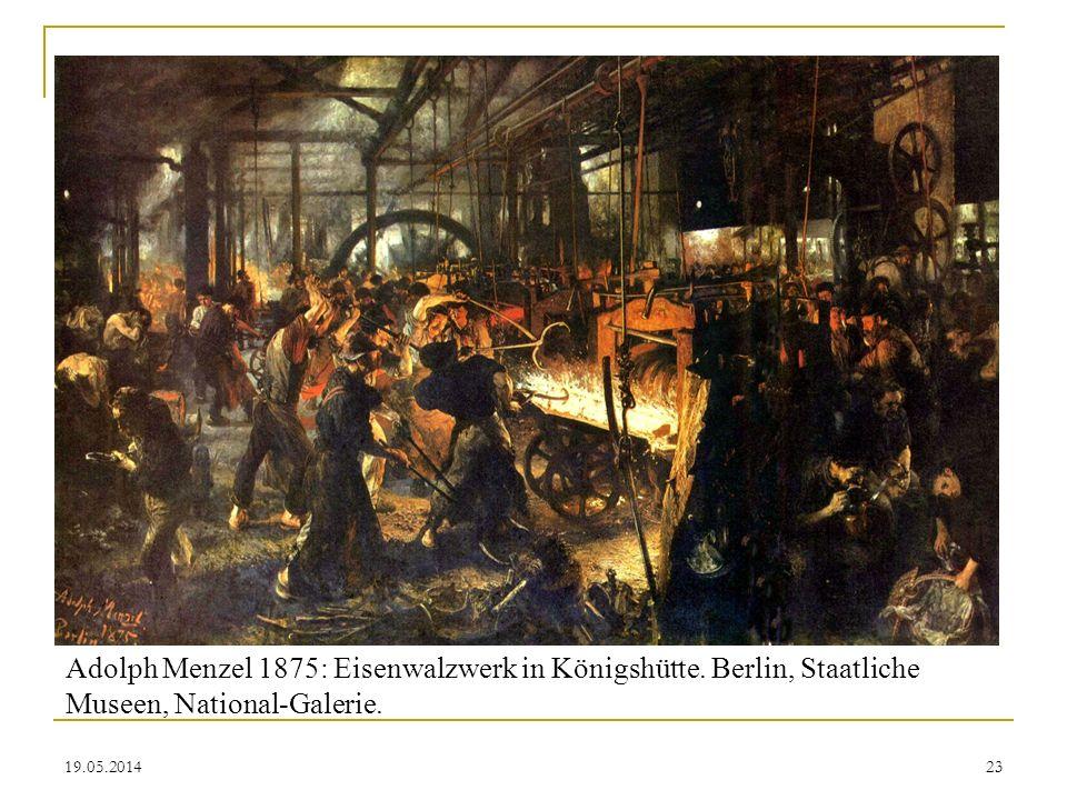 Adolph Menzel 1875: Eisenwalzwerk in Königshütte